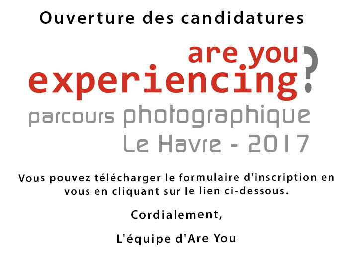 Ouverture candidatures